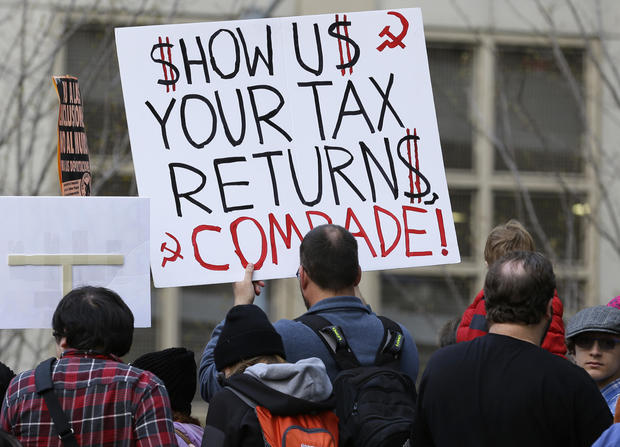 Tax Day protesters demand Trump release tax returns