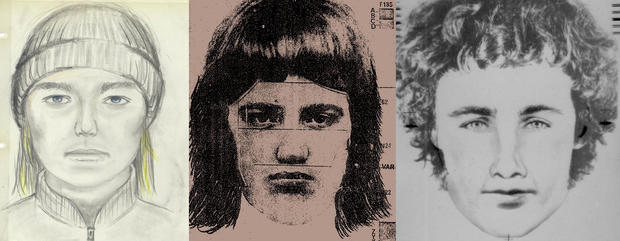 GSK trio of police sketches