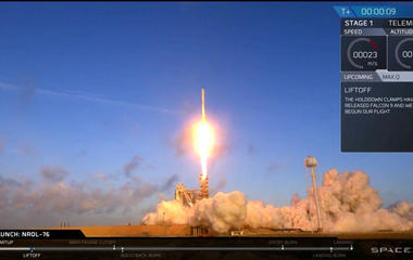 Watch: SpaceX launches spy satellite into orbit