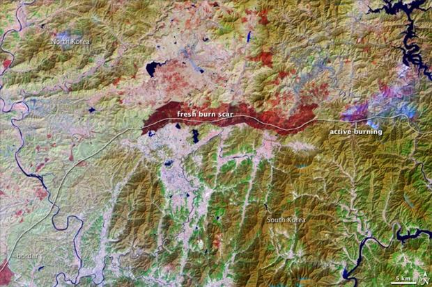 North Korea: Hermit country seen from space