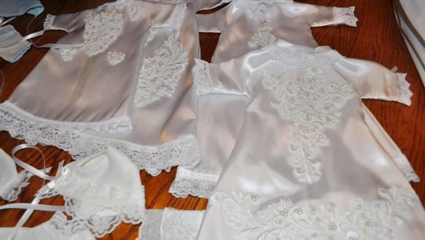 donated wedding dresses help parents grieve after losing infant cbs news