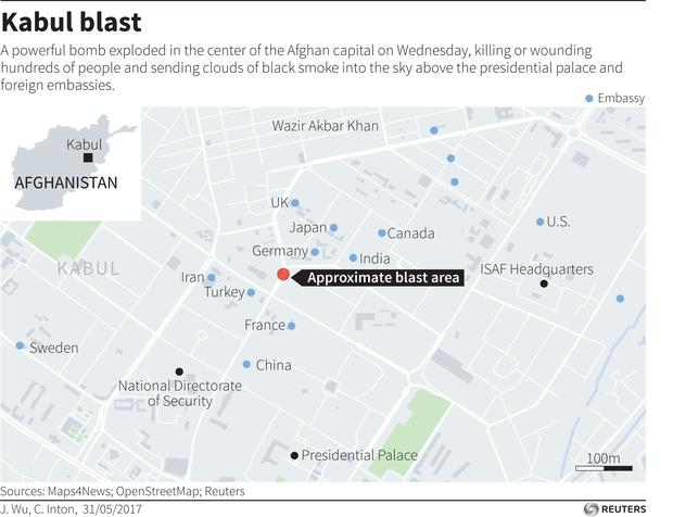 Official 9 local guards at US Embassy in Kabul killed 11