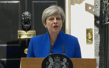 Theresa May says she will seek coalition after bruising election