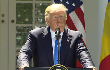 """President Trump says he's willing to speak under oath, """"100 percent"""""""