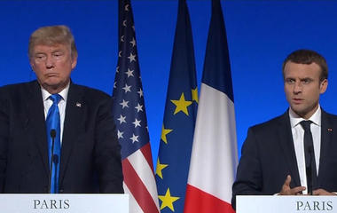 Full video: President Trump, French President Macron hold joint press event