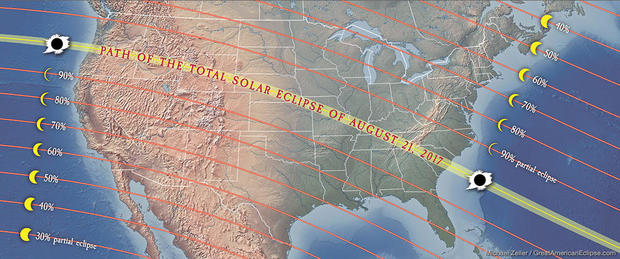 Great American Eclipse Excitement Builds For Total Solar Eclipse - Total eclipse us coverage map