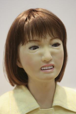 Creepily human-like robots