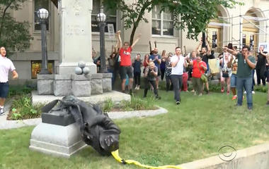 Confederate relic discuss continues in the South as statues are ripped down and dark