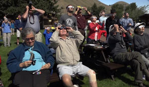 Star students hold special class reunion under solar eclipse