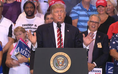 President defends response to Charlottesville violence