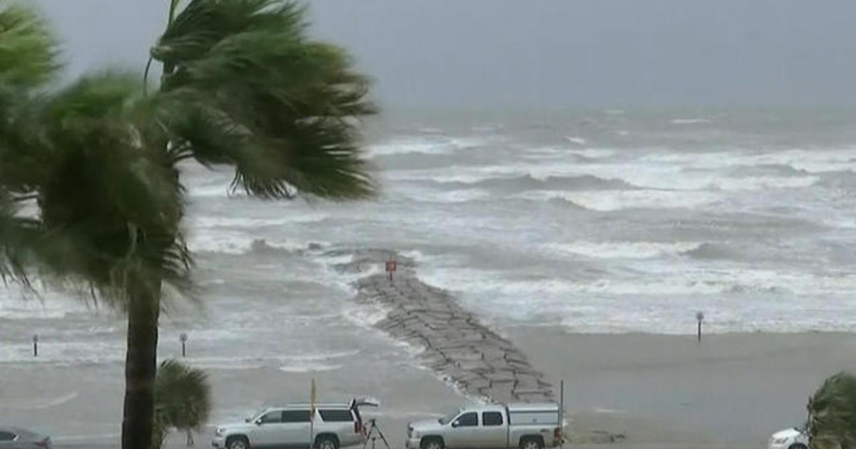 galveston texas is in danger of serious storm surges cbs news