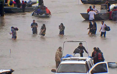 Houston rescues continue in flooding crisis