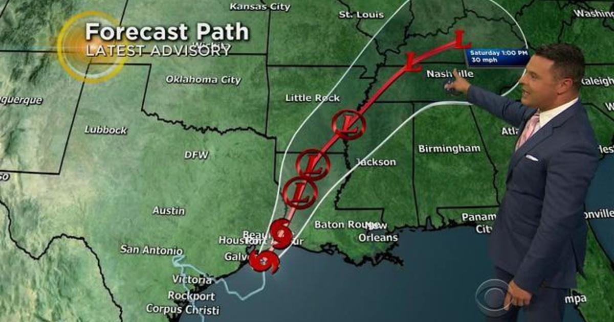 Harvey forecast: System will make third landfall Tuesday night
