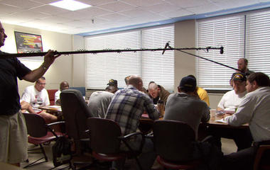 Filming vets with PTSD in therapy