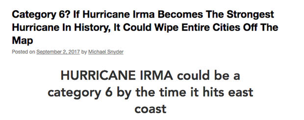 fake hurricane warnings