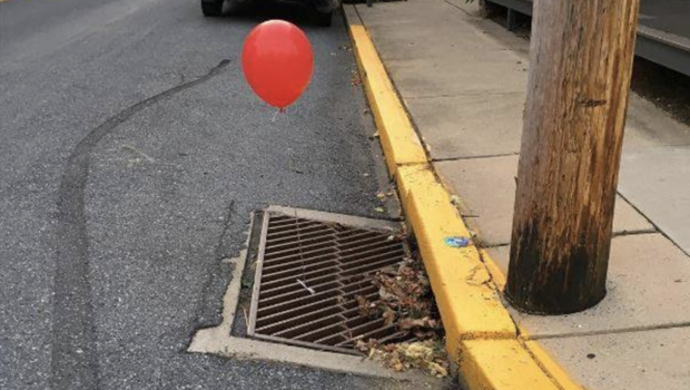 Could The DIY Pennywise Tying Red Balloons To Sewer Grates Please Chill