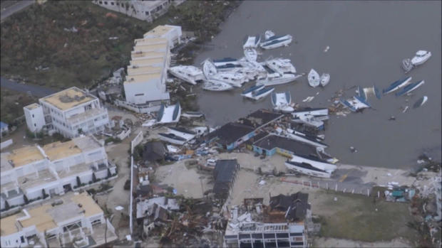 The aftermath of Hurricane Irma on Sint Maarten Dutch part of Saint Martin island in the Carribean