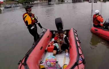 After aiding Harvey recovery in Texas, Florida first responders return home to another storm