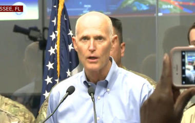 "Florida Gov. Scott: ""The storm surge can kill you"""