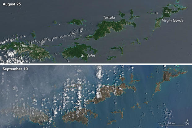 Providenciales Before After Satellite Photos Of Hurricane - Before and after world