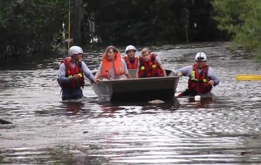 Emergency crews comb through flooded Jacksonville