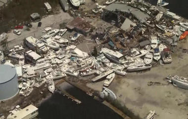 From above, a wider picture of the devastation in the Keys