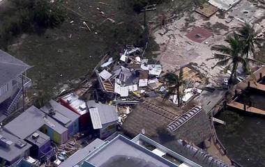 Bird's-eye view of Hurricane Irma's destruction in Florida