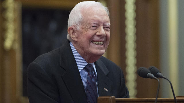 Former US President Jimmy Carter Deliver A Lecture on Guinea Worm Eradication