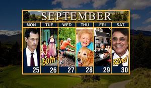 Calendar: Week of September 25