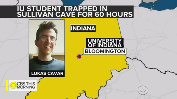 Sullivan Cave Indiana Map.Indiana College Student Locked In Cave For 60 Hours Feels Lucky To