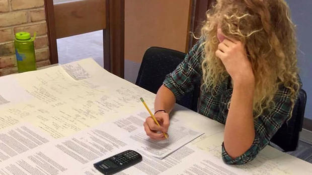 Student outwits professor by bringing huge cheat sheet to exam