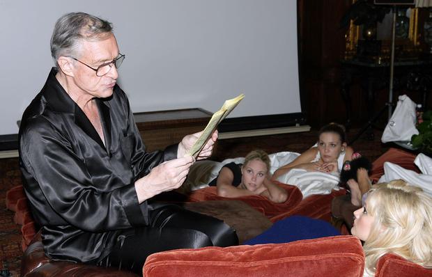 Hugh Hefner Movie Screening at Playboy Mansion