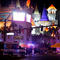 Las Vegas Metro Police and medical workers stage in the intersection of Tropicana Avenue and Las Vegas Boulevard South after a mass shooting at a music festival on the Las Vegas Strip in Las Vegas