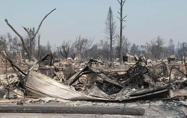 Search for victims begins after Northern California wildfires scorch region