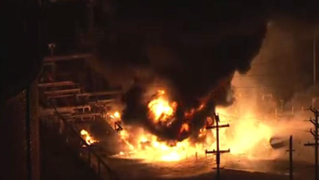 Crews douse fire at huge oil refinery near Los Angeles