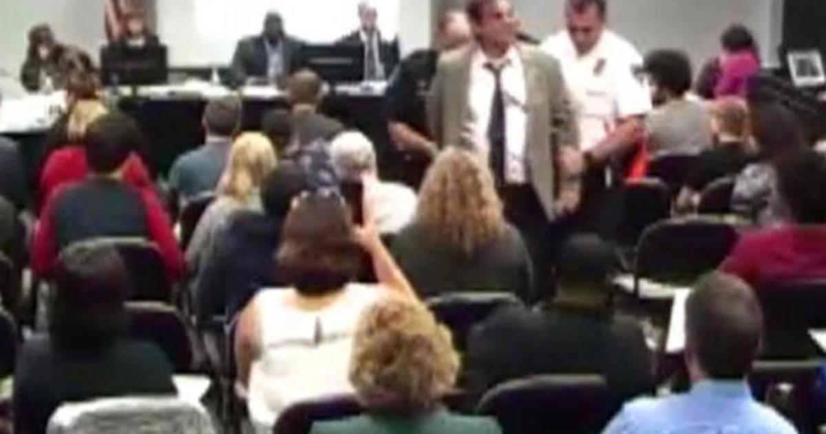 st  louis college professor slammed  arrested at board