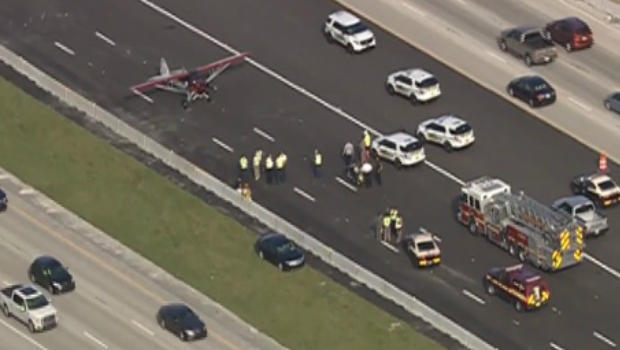 Small Plane Lands On Highway Near Orlando After Running Out of Gas