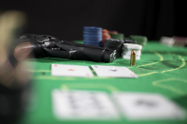 illegal game of casino poker game / Blackjack game