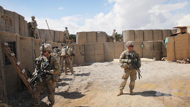 US Troops Patrol Village In Afghanistan's Logar Province