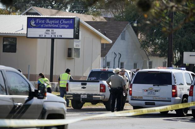 Police at Sutherland Springs Shooting