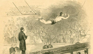 The first flying trapeze act