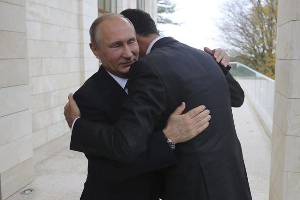 Russian President Putin meets with Syrian President al-Assad in Sochi
