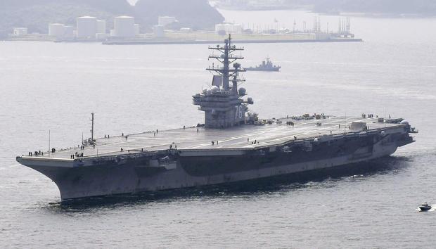 U.S., S. Korea begin joint exercise off Korean Peninsula