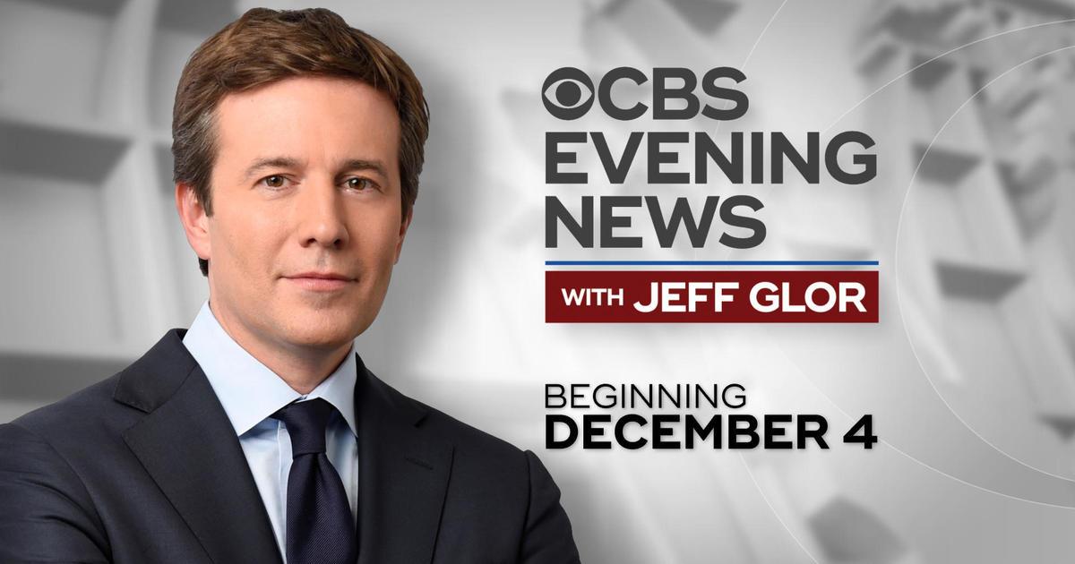 cbs evening news with jeff glor begins december 4 cbs news