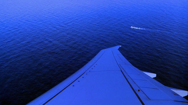 This video grab shows a ship sailing the Argentine Sea as seen from a P8-A Poseidon aircraft of the U.S. Navy Patrol and Reconnaissance Wing that's assisting the Argentine military in its search for the missing submarine ARA San Juan on Nov. 26, 2017.