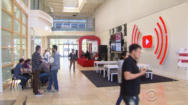 An image from YouTube's San Bruno Calif. headquarters.               YouTube