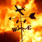 A weather vane is pictured on a ranch during the Creek Fire in the San Fernando Valley north of Los Angeles, in Sylmar, California
