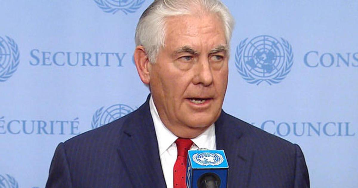 Sec. Tillerson addresses N. Korea threat after UN Security Council meeting