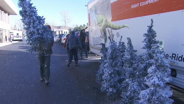 Colorado Springs Christmas.Couple Gives Decorated Christmas Trees To Families In Need