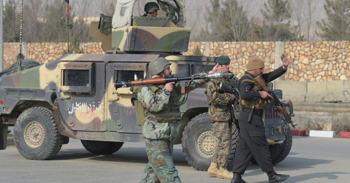 Gunmen storm building near Afghan intel training center